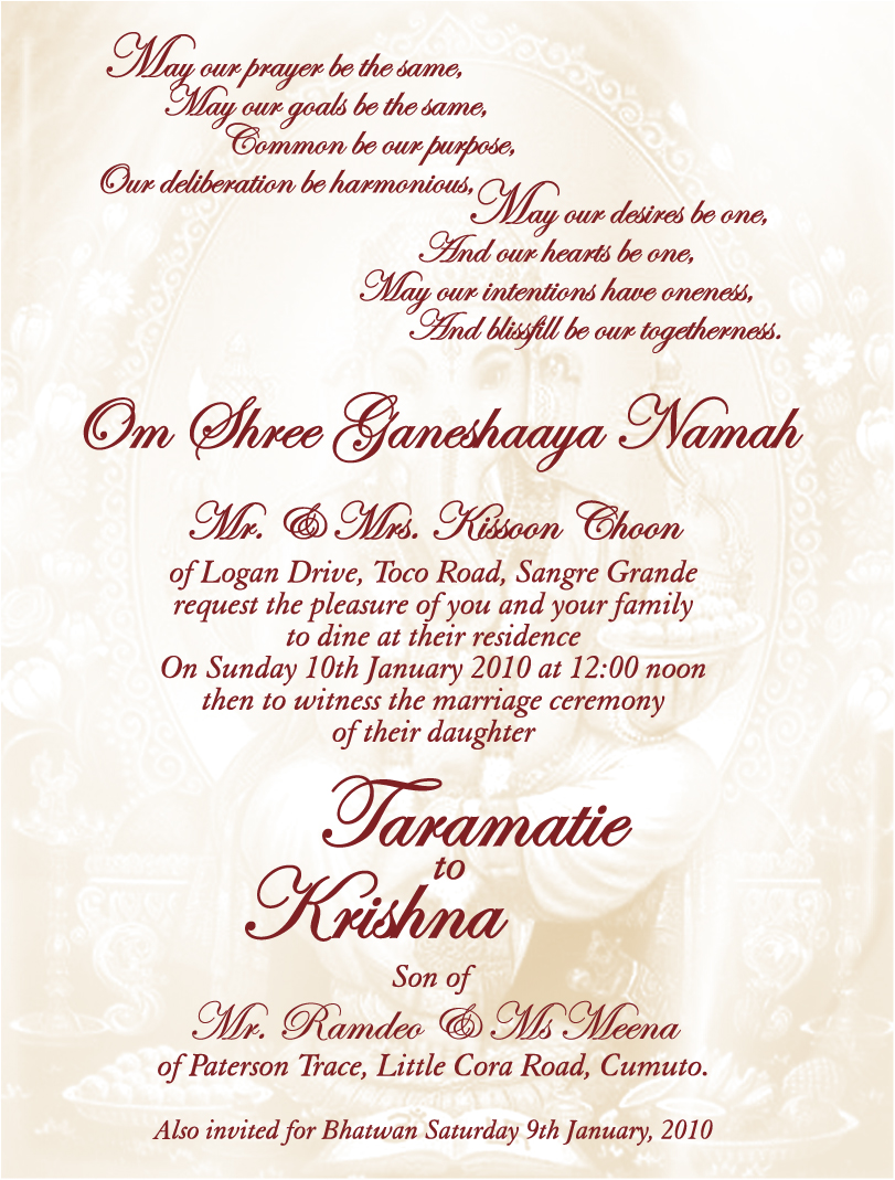indian wedding invitation quotes quotesgram With hindu wedding invitation quotes and sayings