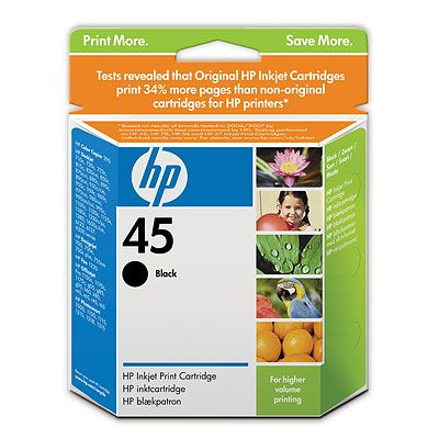 Genuine hp 45 black ink cartridge for sale trinidad for Ink sale