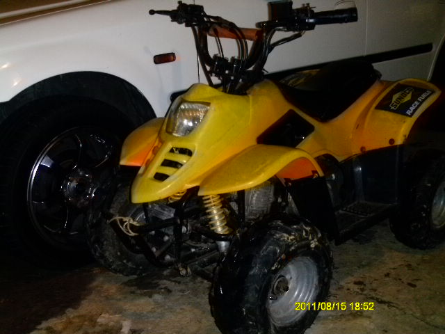 One used 5occ ATV, suitable for kids/light adults, working with keys and ...
