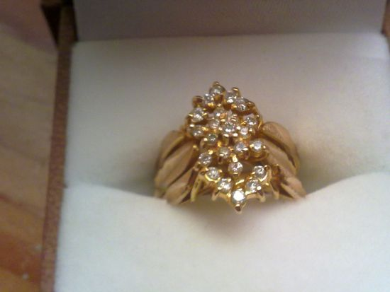 SOLD] THREE PIECE WEDDING RING